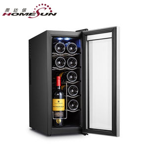 35L,12-bottles Hot sale mini wine cooler /wine refrigerator for hotel with LED light with CE/ERP