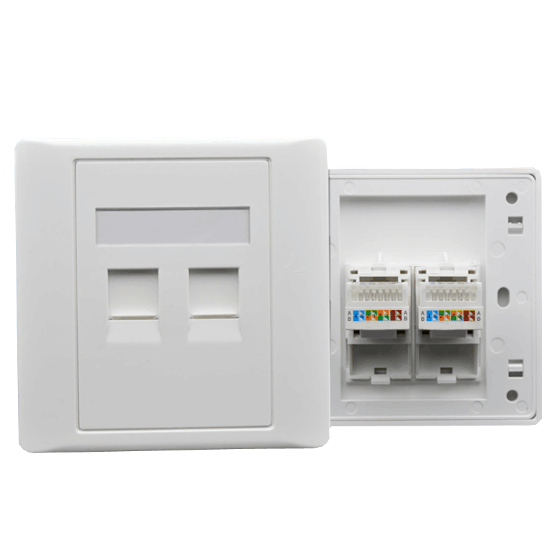 1 2 4 Ports 86 Type UTP STP FTP RJ45 wall mounted junction Box