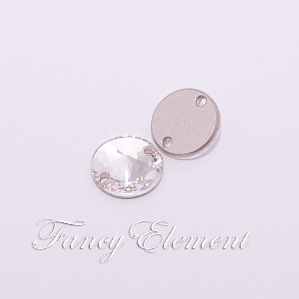 Asli Swarovski Elements 10mm Jelas (001) Rivoli Batu