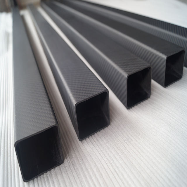 High strength matte and twill 3k carbon fiber square tube