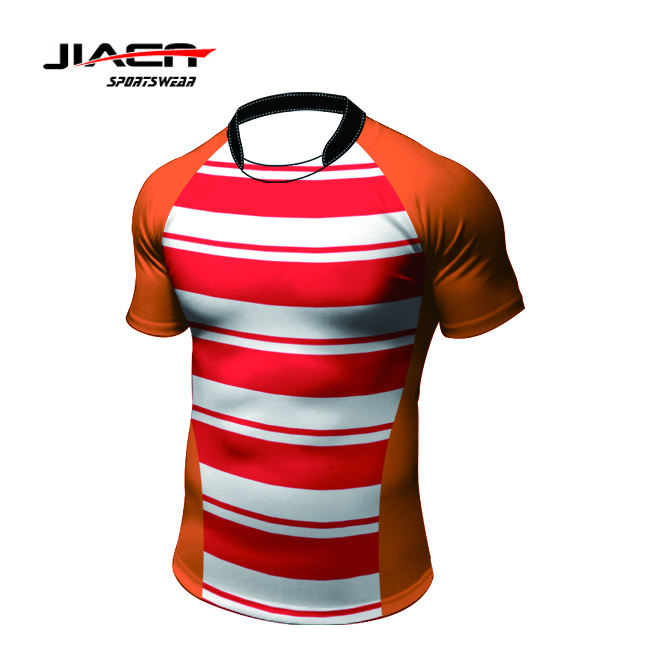 Hot sale grade original league custom design your own rugby jerseys thailand striped rugby jersey