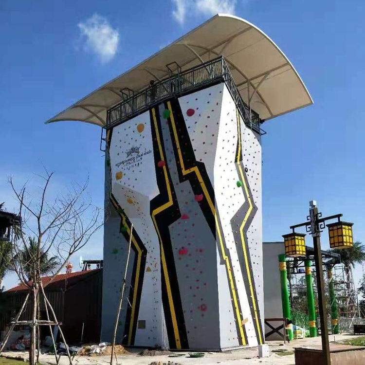 Your best quality choice! New project! Sturdy construction outdoor rock climbing wall!