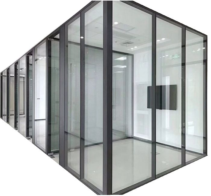 Aluminium frame wall glass partition soundproof glass office partition based client' s design