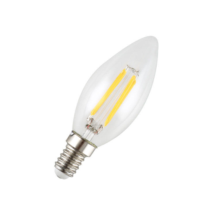 Lilin LED Lampu Filamen E12 E17 E14 6 W Dimmable C35 LED Light Bulb 2700 K