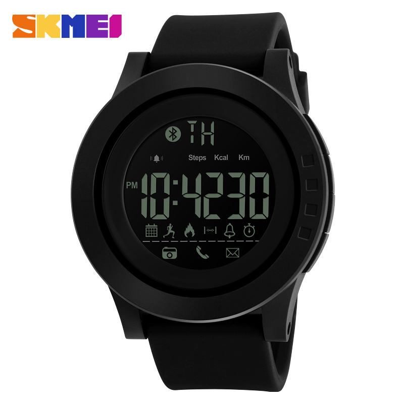 2017 Skmei 50m Waterproof Android IOS Smart Watch Pedometer Sport Watches
