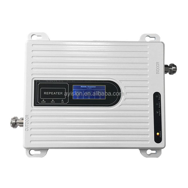 <span class=keywords><strong>Penguat</strong></span> <span class=keywords><strong>Sinyal</strong></span>/Amplifier Tri Band, Harga Pabrik 2G 3G 4G Mini 900/1800/2100Mhz