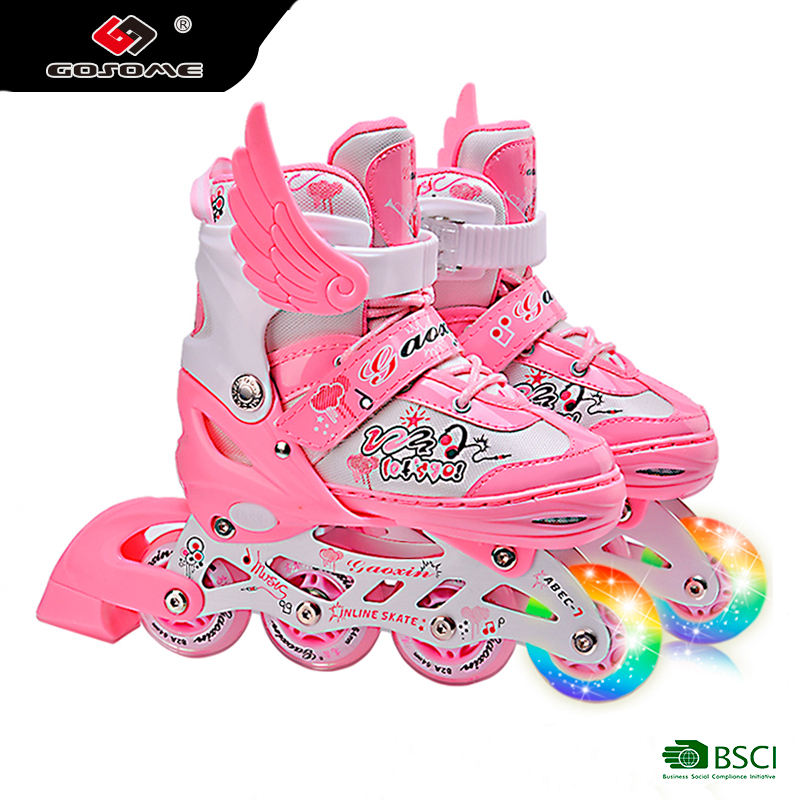 GX-1508 inline skates blue color detachable roller skates fairytale style inline skate with wings