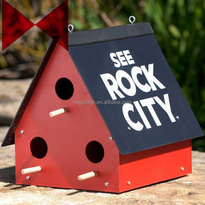 See Rock City Birdhouse Purple Martin Bird House Feeder Garden Yard Rustic Decor