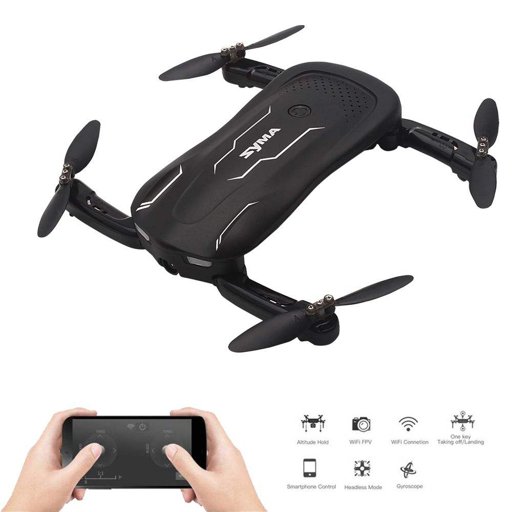 Syma Z1 RC mini Drone met Camera Hoogte Houden Selfie Drone Follow me Mode WiFi FPV Quadcopter Drones RC Helicopter VS H62 E58