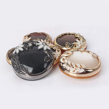 fancy vintage round flat shank metal crystal diamond buttons for women clothes