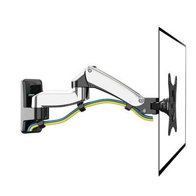 NB aluminum 7kg 75x75 100x100 silver 360 degree rotate Gas spring dual arm PLASMA lcd monitor stand mount wall bracket tv holder