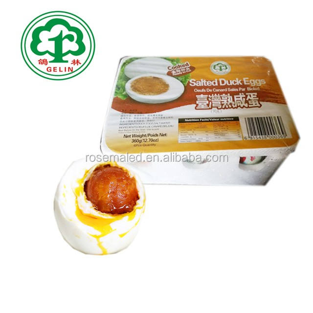 Gelin High Quality Nutrition Cooked Salted Low Price Duck Eggs