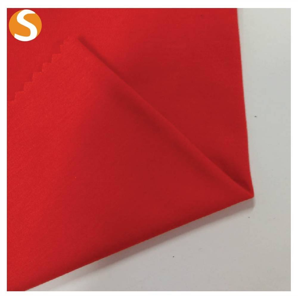 2017 Top quality red color mercerised cotton 100 cotton top jersey knit fabric