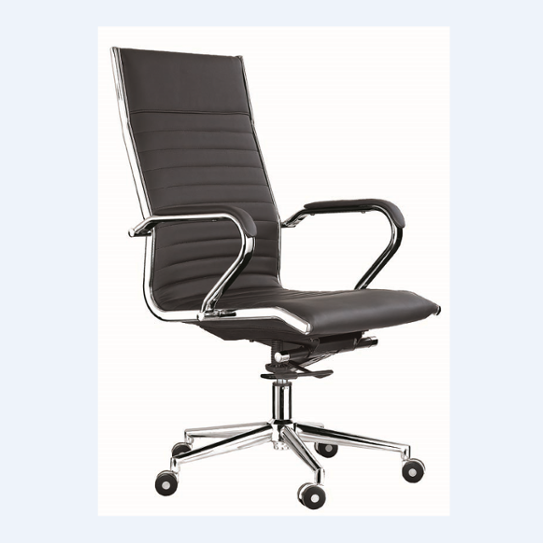 Classical design luxury high back ergonomic black leather office chair office furniture sri lanka