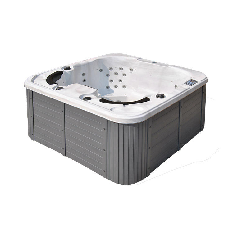 Acrylic 4 people outdoor freestanding air jet massage hydro spa bath