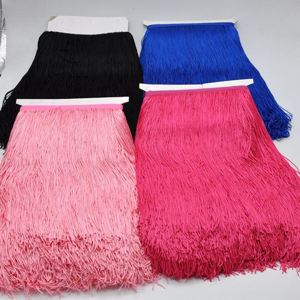 Hot Sell 30CM More Colors Polyester Fringe Trim for Dresses