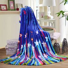 hot sale 100% polyester new trendy  star design thick heavy flannel blanket