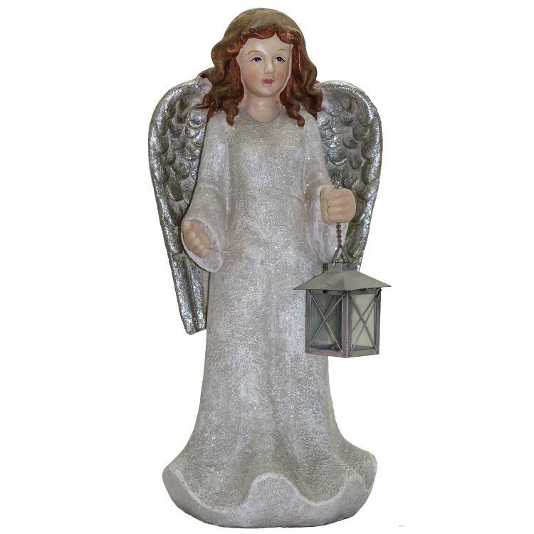 Trung quốc nhà sản xuất sợi thủy tinh trang trí nội thất trang trí thiên thần với đèn