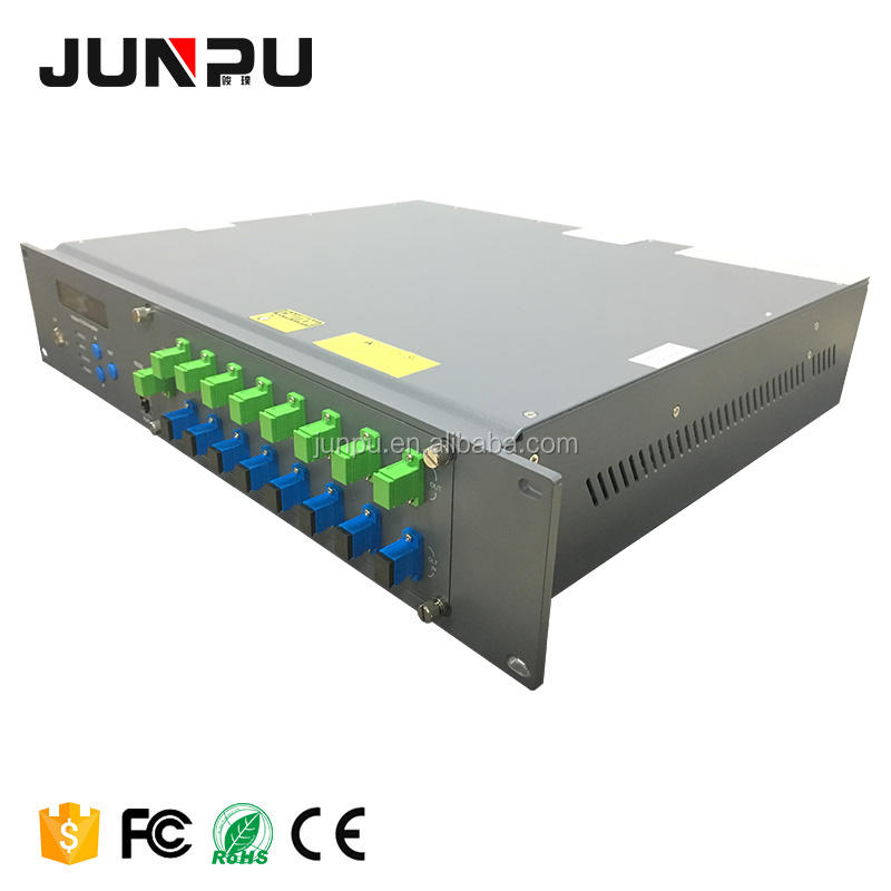 Junpu Fiber Olt Gepon Catv Fibre Optical Amplifier Edfa 1550 8 Ports