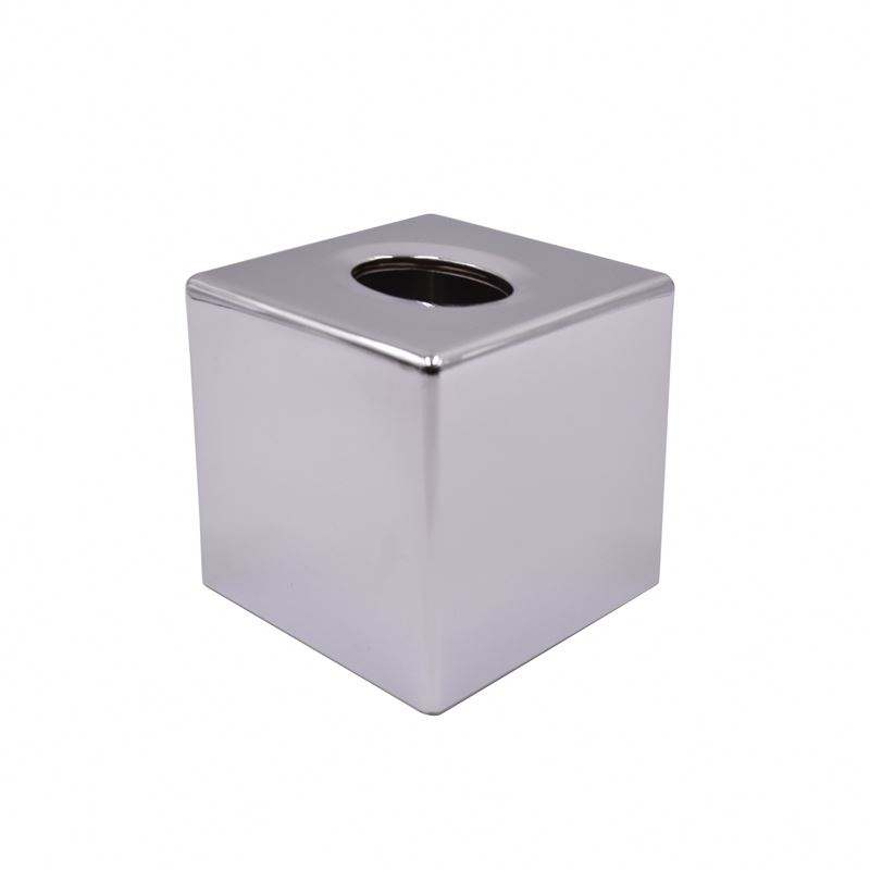 Silver Metal Stainless Steel Home Decor Square Tissue Box