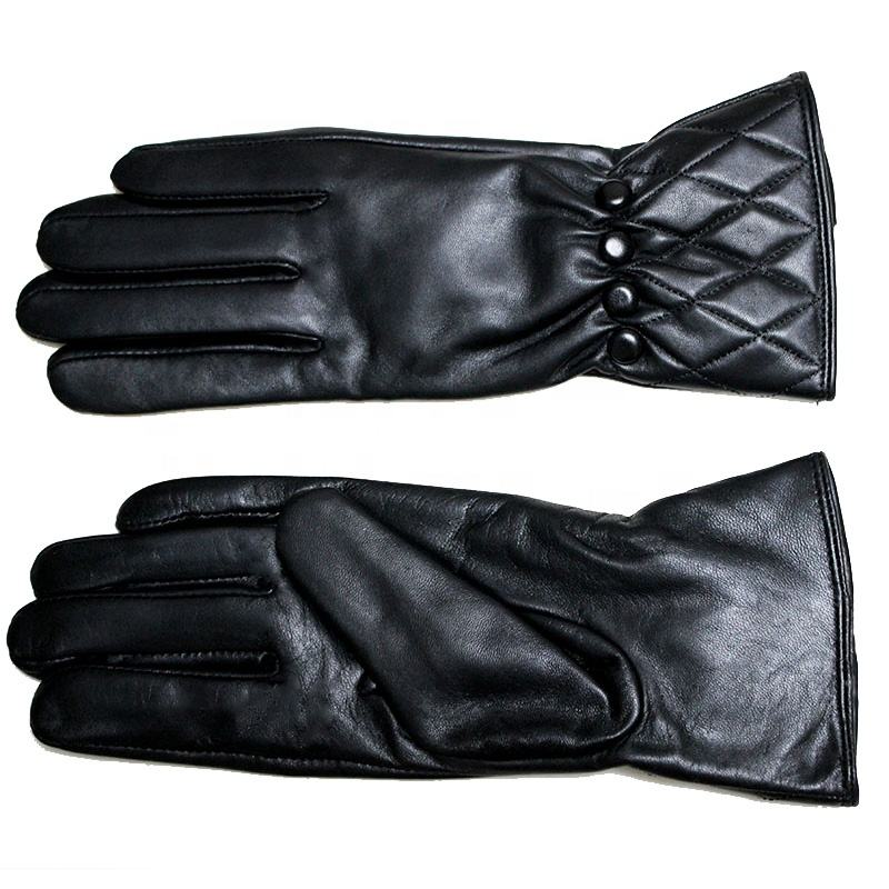 Custom wholesale women's 2019 new touch screen gloves ladies sheepskin leather gloves