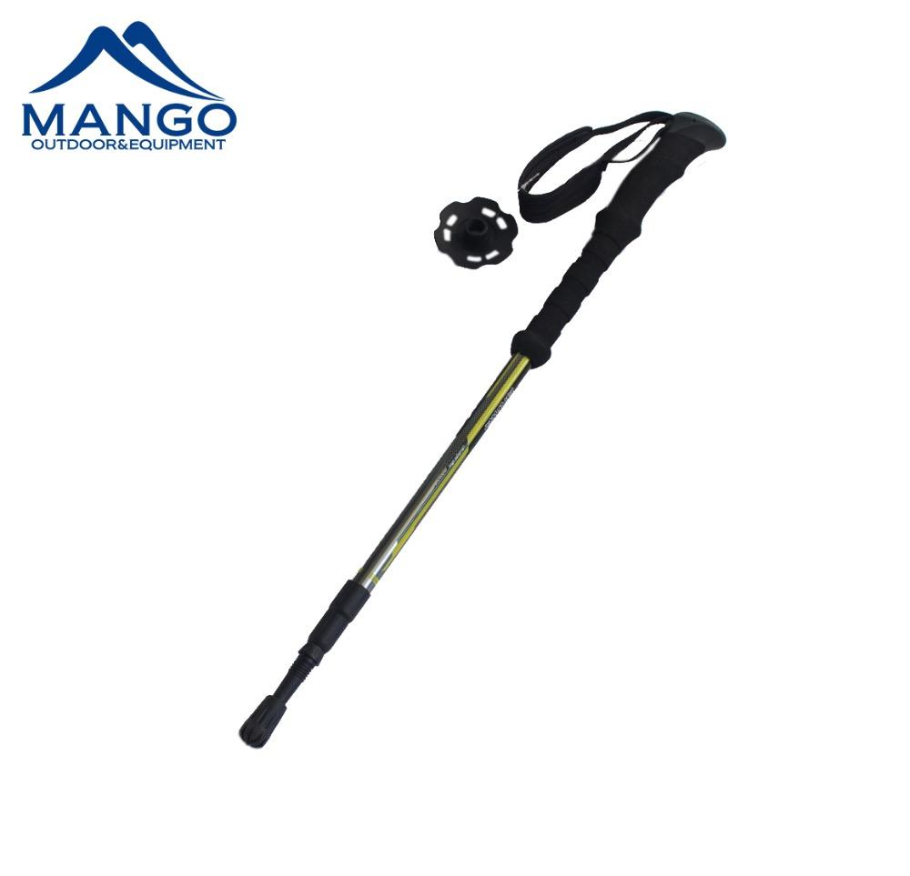 Adult Anti-shock Durable Collapsible Aluminum Trekking Pole For Hiking