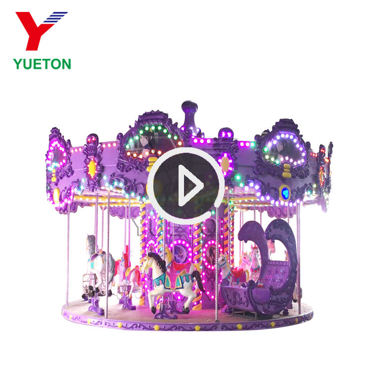 Zoo Bryant Park European Children Kids Riding Royal Carousel Or Merry Go Round