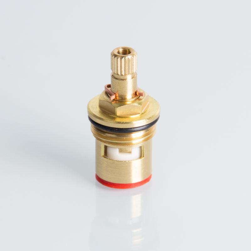 Quick open brass faucet ceramic disc cartridge