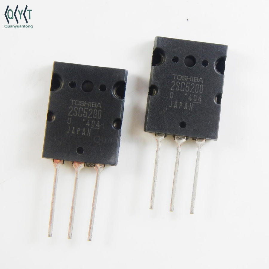 2sc5200 Transistor NPN 230V 15A 30MHz 150W Through Hole TO-3P(N) 2sc5200 2sa1943 transistor