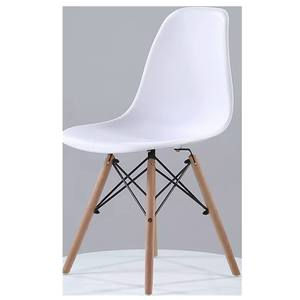 modern dining chairs set of 4 nordic style chairs gray PP plastic wood chairs for dining room