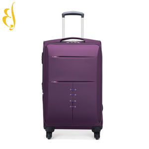 Zipper soft finish solid Oxford cloth 4 wheel spinner luggage