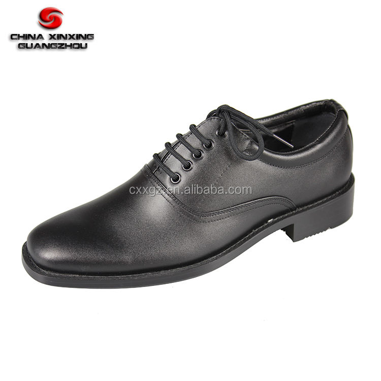 Lace Up Oxford Army Black Leather Officer Men Military Dress Shoes