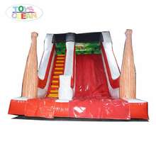 Custom Fun park equipment outdoor used inflatable dry baseball slide