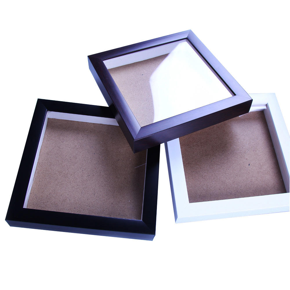 Commercio all'ingrosso Caldo PS Nero o Bianco Scatola di Ombra Photo Picture Frames Made in China