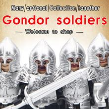 Mini action figures Lord of the Rings Knight Soldier of Gondor Heavy Spear  Building Block The Archer Toys for kids juguetes