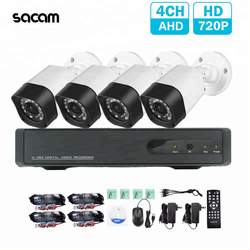 Home Security CCTV System 4ch Full Outdoor Waterproof SANNCE Camera AHD DVR Kit HD 720P 4 Channel AHD CCTV Set