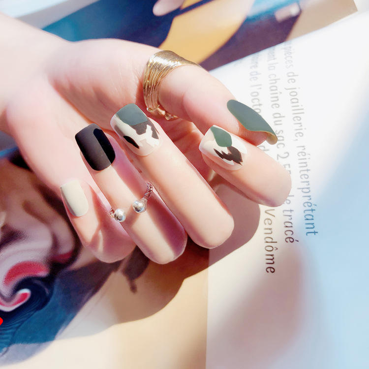 Artificiale Nail Tips Premere Il Tasto On Falsa Del Chiodo <span class=keywords><strong>Punte</strong></span> Commerci All'ingrosso