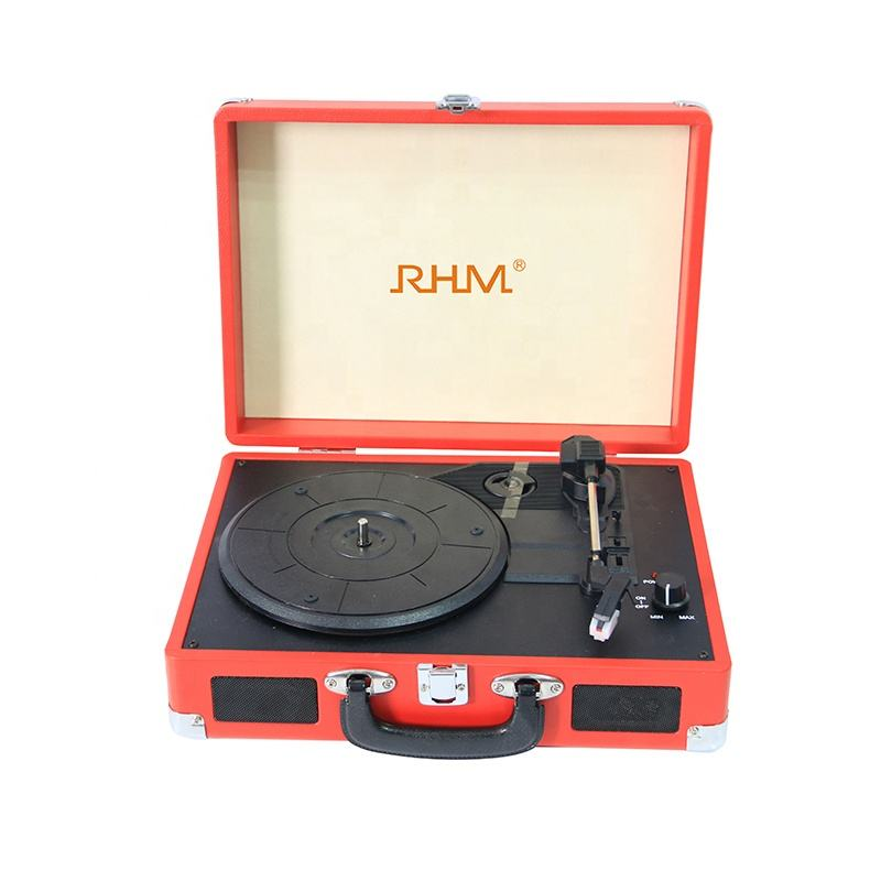 RHM retro vinyl record turntable player with speaker driver