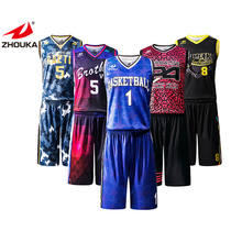 Cool Latest Design Sublimation Basketball Uniforms Custom Shorts And Tops Cheap Basketball Shirt Jerseys For Team Wear
