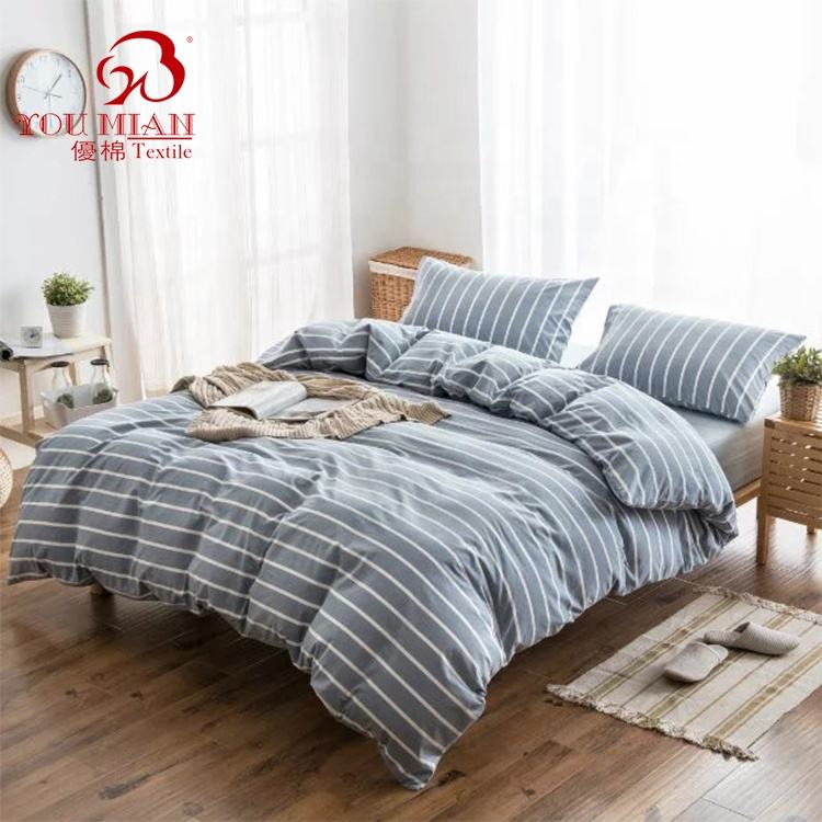 Vintage Washed Linen Duvet Cover Bed Sheet Sets Bedding