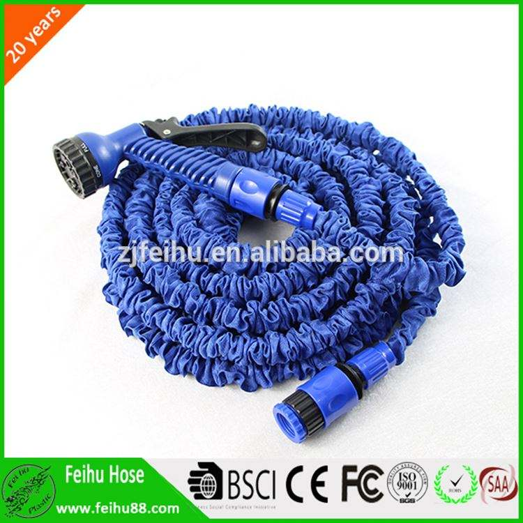 Soft,Anti-Corrosion,Flexible,Anti-UV Feature And Latex Tube+Polyester Webbing Material Expandable Garden Hose