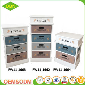 High quality firm wooden material cheap price storage cabinet with three drawers
