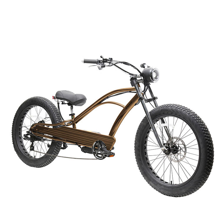 rear hub motor electric chopper bike for adults