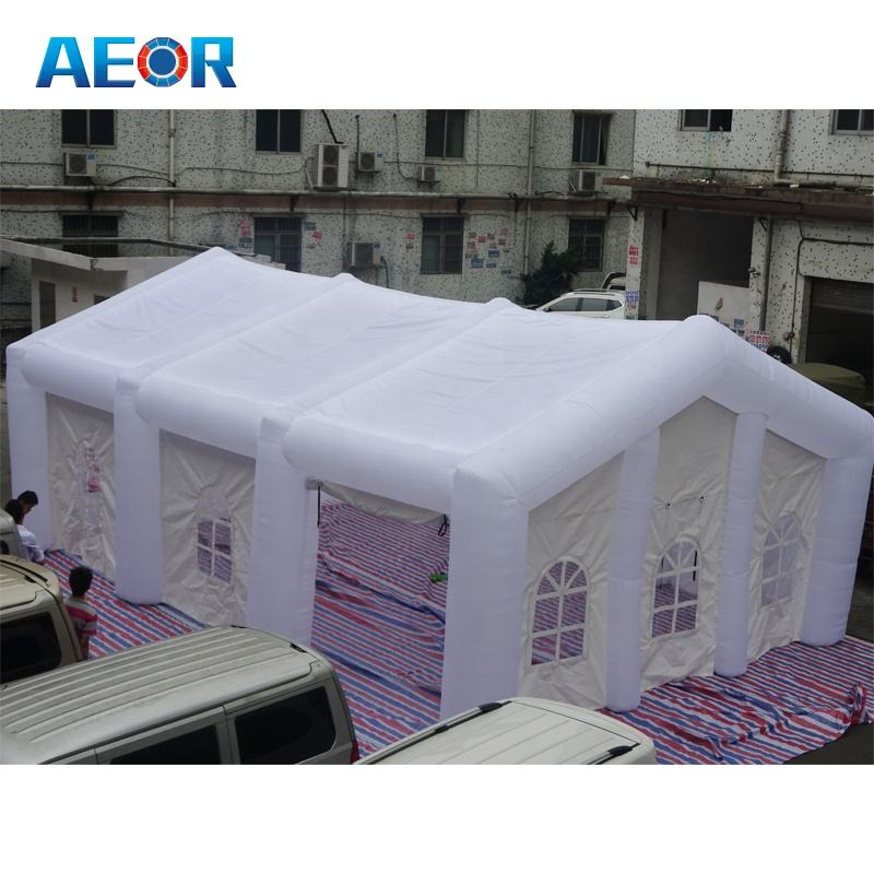 high quality PVC material inflatable party tent for wedding/ used cheap wedding marquee party tents for sale