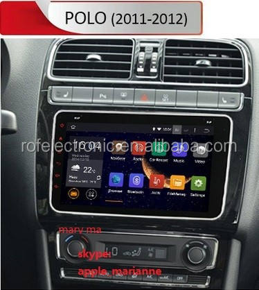 100% tinh khiết Android 4.4 vw xe dvd radio stereo gps navi Cortex A9 VW Polo 2011-2012
