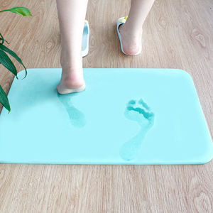 Fast water absorbent diatomaceous earth foot massage mat stone