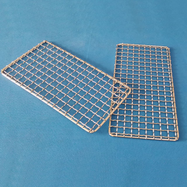 Camping Outside Used BBQ grill Stainless Steel Barbecue Wire Mesh Grid