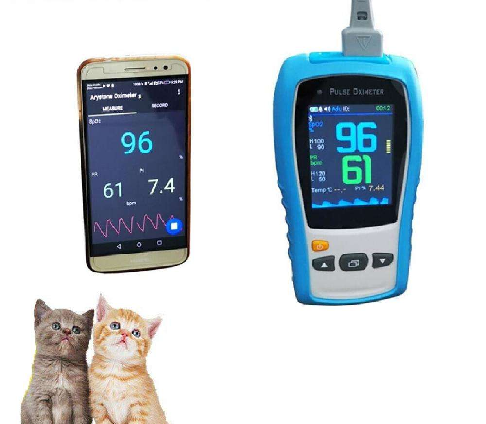 Handheld Palm Veterinary Pulse Oximeter with Bluetooth Wireless for VET Clinic