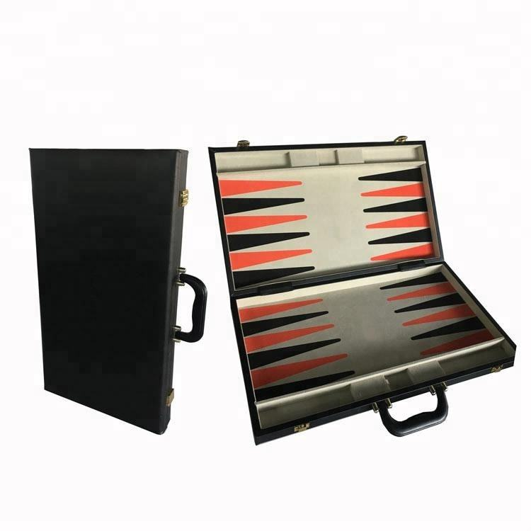 Meistverkaufte Holz Backgammon-brett Set in Ledertasche