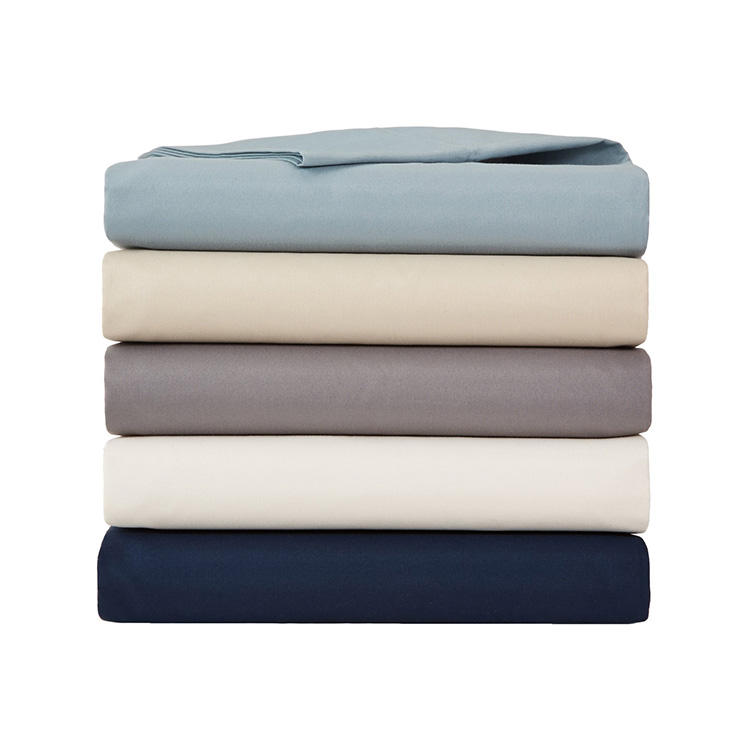 300 Thread Count Solid Embroidery Microfiber Fabric Bed Sheet Set